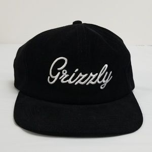 Grizzly griptape snapback hat skateboard black 1sz